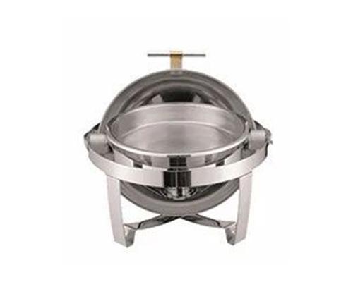 全钢圆形全翻盖自助餐炉